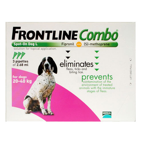 Frontline Plus (COMBO) for Large Dogs 45-88 lbs (Purple) 3 Pipette