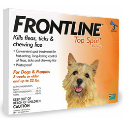 Frontline Top Spot Small Dogs 0-22 lbs (Orange) 4 + 4 Free Doses