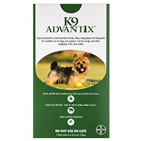 K9 Advantix Small Dogs/Pups 1-10 lbs (Green) 12 + 4 FREE